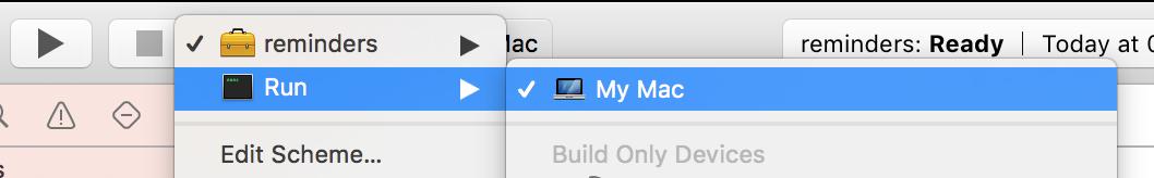 Select Xcode Target